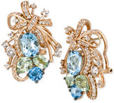 LeVian Le Vian® Crazy Collection® Multi-Stone Cluster Drop Earrings in 14k Rose Gold (14-1/6 ct. t.w.), Only at Macy's