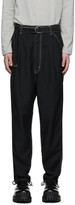 Doublet Black Heavy Twill High Waist Wide Tapered Trousers