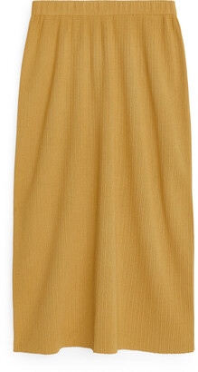 Arket Rib-Knit Skirt