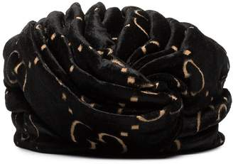 Gucci GG logo printed wrapped headdress