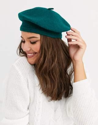 Asos Design DESIGN wool beret in green