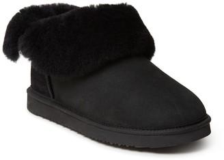 Dearfoams Genuine Shearling Lined Boot