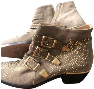 Chloé Susanna Beige Suede Boots