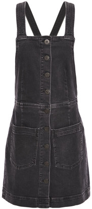 3x1 Button-detailed Denim Mini Dress