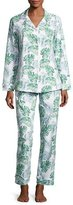 BedHead Palm Leaf-Print Classic Pajama Set, Green Palm