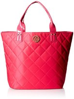 Tommy Hilfiger Quilted Shopper With Pouch Shoulder Bag