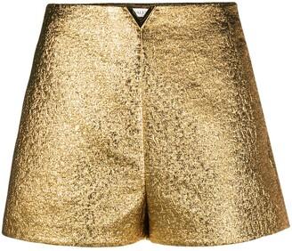 Valentino VGOLD metallic shorts