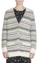 Saint Laurent Wool-Blend Fair Isle Cardigan