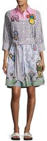 Peter Pilotto Patchwork Colorblock Gingham Shirtdress, Multi