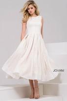 Jovani Contemporary Lace Jewel A-Line Cocktail Dress 37454