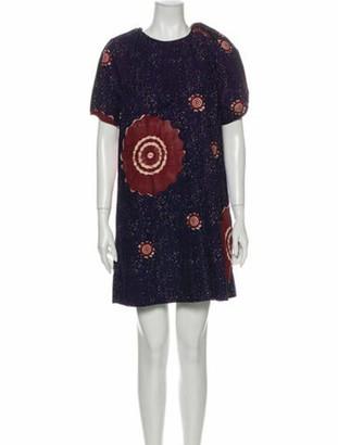 Ulla Johnson Printed Mini Dress Blue