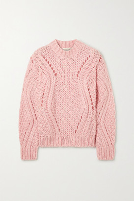 Stine Goya Alex Cable-knit Sweater - Baby pink