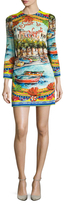 Dolce & Gabbana Napoli Silk Printed Fit And Flare Dress