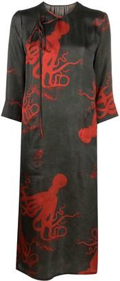 UMA WANG Octopus-Print Wrap Dress
