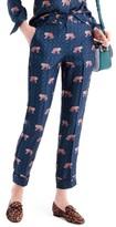 J.Crew Women's Tiger Print Silk Easy Pants