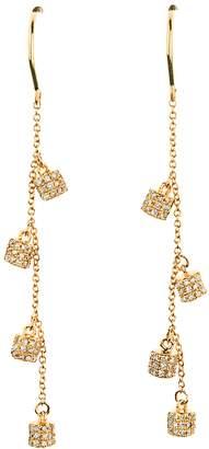 Lee Jones Collection Diamond Fairy Dust Dangle Earrings - Yellow Gold