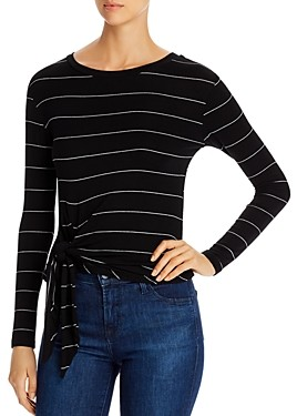 Elan International Tie-Front Long-Sleeve Top