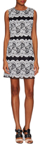Anna Sui Floral Lace Stripe Sleeveless Sheath Dress