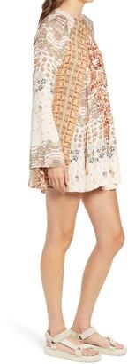 Free People Stevie Printed Long Sleeve Tunic Dress