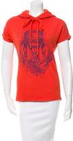Balenciaga Printed Short Sleeve Sweatshirt