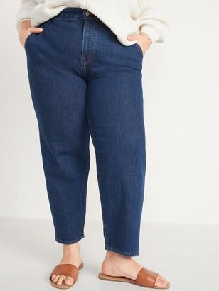 Old Navy Extra High-Waisted Secret-Slim Pockets Sky Hi Straight Plus-Size Jeans