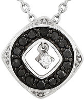FINE JEWELRY 1/5 CT. T.W. White and Color-Enhanced Black Diamond Sterling Silver Fashion Pendant Necklace