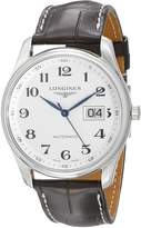 Longines Master Collection L26284783 Stainless Steel Case Brown Calfskin Synthetic Sapphire Men's Watch