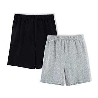 UNACOO Kids 2-Pack 100% Cotton Knit Summer Shorts for Boys and Girls (