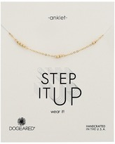 Dogeared Step It Up Multi-Bead Anklet