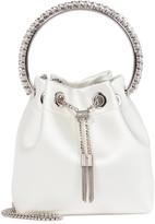 Thumbnail for your product : Jimmy Choo Bon Bon embellished satin bucket bag