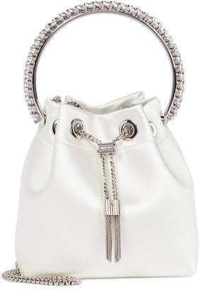 Jimmy Choo Bon Bon embellished satin bucket bag