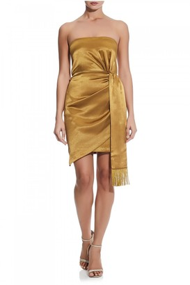 Aidan Mattox Liquid Satin Cocktail Dress