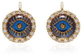 Ileana Makri 18K yellow gold eye diamond earrings