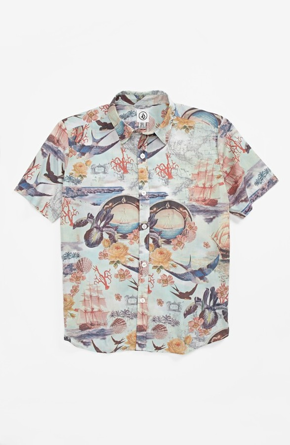 Volcom 'Ol' Shipster' Short Sleeve Sport Shirt (Big Boys)