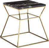 Pangea Geo Marble Side Table, Black