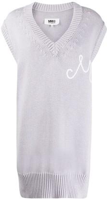 MM6 MAISON MARGIELA Long Sleeveless Knitted Jumper
