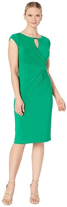 Lauren Ralph Lauren Carlonda Cap Sleeve Day Dress (Malachite) Women's Dress