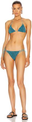 Oseree Microkini Ring Bikini in Ocean Blue   FWRD