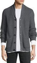 Rag & Bone Standard Issue Avery Shawl-Collar Knit Cardigan, Charcoal