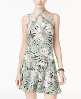 Jessica Simpson Tropical-Print Halter Dress