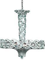 Eurofase Catara Collection 12-Light Silver Hanging Large Pendant