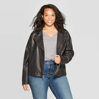 Universal Thread Women's Plus Size Long Sleeve Moto Jackets - Universal ThreadTM