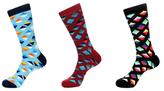 Jared Lang Diamond Cotton Socks (3 PK)