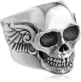 """King Baby Studio Industrial Romance"""" Men's Arch Wing Skull Ring, Size 11"""