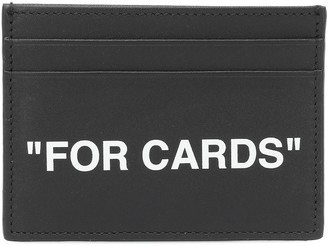 Off-White Quote leather cardholder