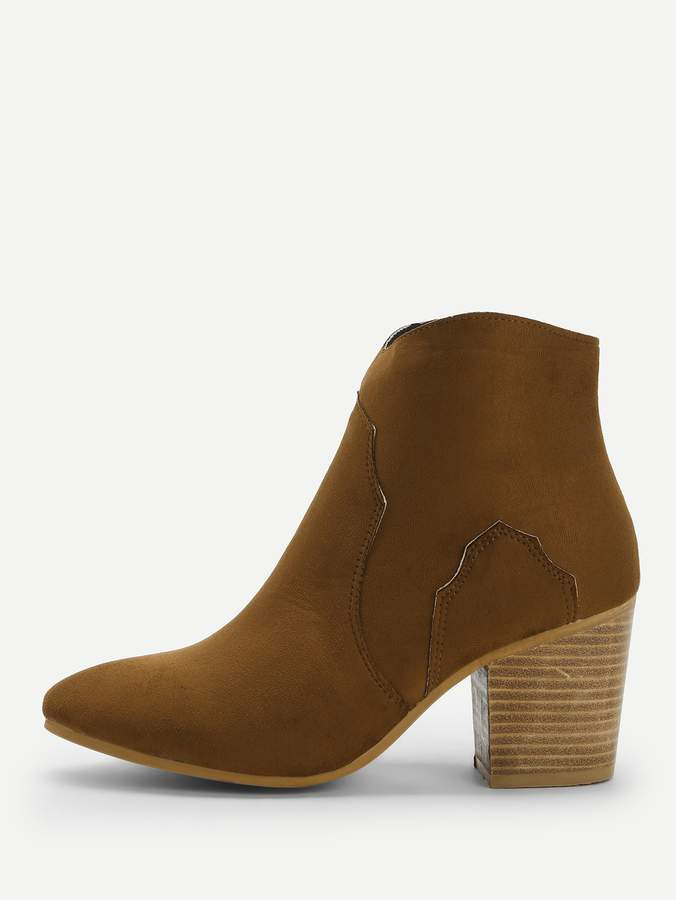 40cef39dfd Brown Chunky Heel Women's Boots - ShopStyle