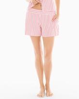 Soma Intimates Full Tap Pajama Shorts Relaxed Stripe Pink Icing