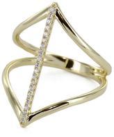 Pink Revolver Gold Rhombus Ring