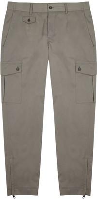 Dolce & Gabbana Grey Cotton-blend Cargo Trousers