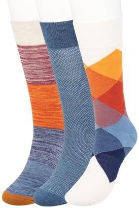 Haggar Men's Comfort Patterned Crew Socks (3 pack)
